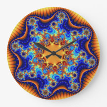 Celestial Fractalscope Large Round Wall Clock Wallclocks