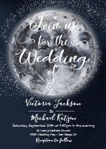 moon wedding invitations zazzle