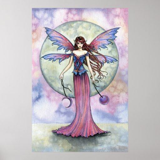 Celestial Gothic Fairy Poster Print