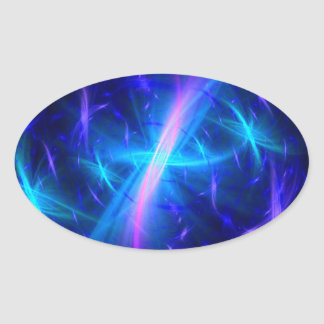 Celestial Grace Oval Sticker