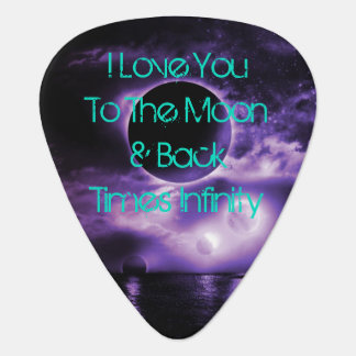 Celestial Guitar Pick I Love You To The Moon
