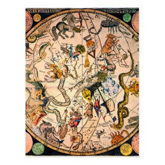 Celestial Hemisphere, 1790 Postcard