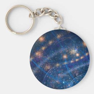 Celestial Lighs Basic Round Button Keychain
