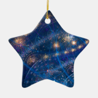 Celestial Lighs Ceramic Ornament