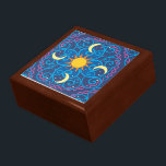 "Celestial Mandala Wooden Keepsake Box<br><div class=""desc"">Keep your precious items safe in one of our amazing keepsake box designs!</div>"