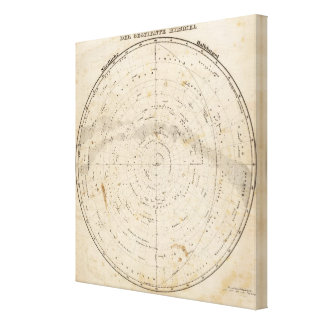 Celestial map gallery wrapped canvas