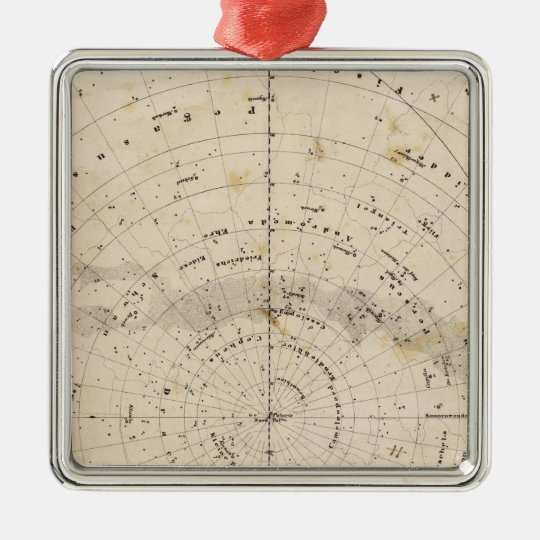 Celestial map metal ornament