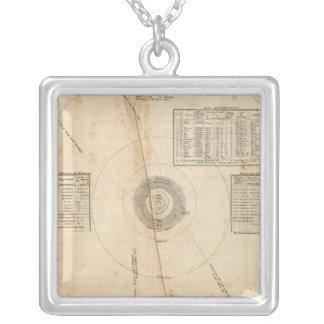 Celestial map square pendant necklace