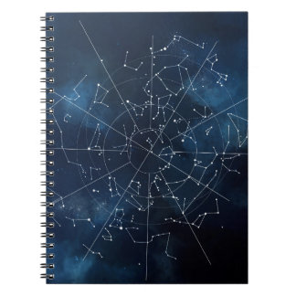 Celestial Map Spiral Note Books