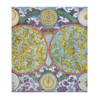 Celestial Map of the Planets Gallery Wrapped Canvas
