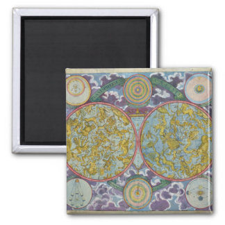Celestial Map of the Planets Fridge Magnet