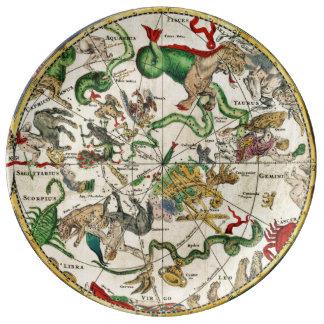 CELESTIAL MAP porcelain plate
