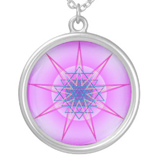 Celestial Might Round Pendant Necklace
