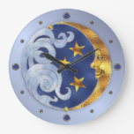 Celestial Moon and Stars Clocks