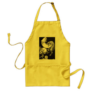 Celestial Moon Goddess Luna Ursa Major and Mars Adult Apron