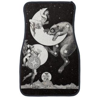 Celestial Moon Goddess Luna Ursa Major and Mars Car Floor Mat