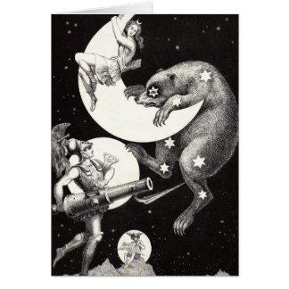 Celestial Moon Goddess Luna Ursa Major and Mars Card