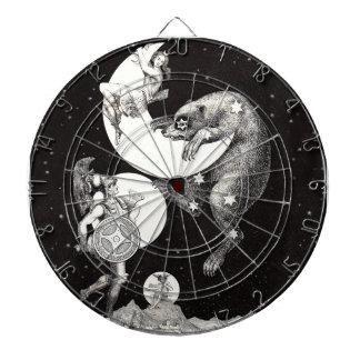 Celestial Moon Goddess Luna Ursa Major and Mars Dart Board