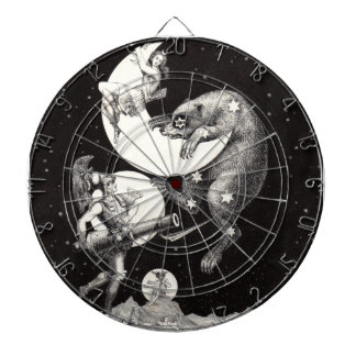 Celestial Moon Goddess Luna Ursa Major and Mars Dart Boards