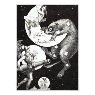 Celestial Moon Goddess Luna Ursa Major and Mars 4.5x6.25 Paper Invitation Card