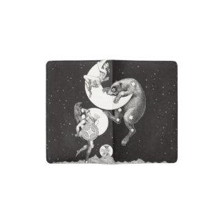 Celestial Moon Goddess Luna Ursa Major and Mars Pocket Moleskine Notebook Cover With Notebook