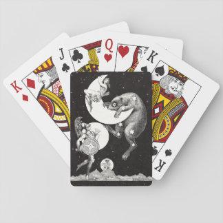 Celestial Moon Goddess Luna Ursa Major and Mars Playing Cards
