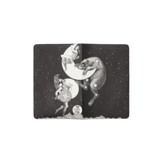 Celestial Moon Goddess Luna Ursa Major and Mars Pocket Moleskine Notebook