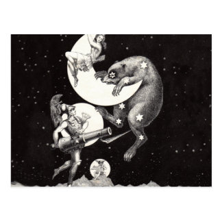 Celestial Moon Goddess Luna Ursa Major and Mars Postcard