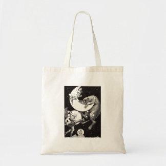 Celestial Moon Goddess Luna Ursa Major and Mars Tote Bag