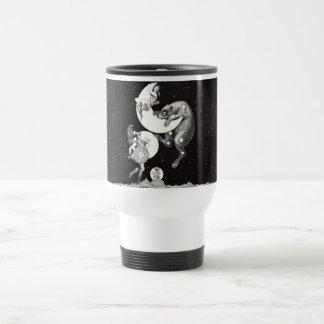 Celestial Moon Mars Saturn Planet Art Print Travel Mug