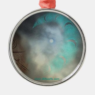 Celestial Moon Star Ornament