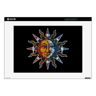 "Celestial Mosaic Sun and Moon 15"" Laptop Skins"