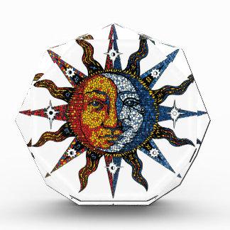 Celestial Mosaic Sun and Moon Acrylic Award