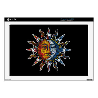 Celestial Mosaic Sun and Moon Decal For Laptop