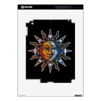 Celestial Mosaic Sun and Moon Decal For The iPad 2