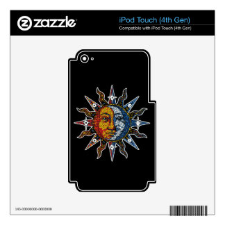 Celestial Mosaic Sun and Moon Decal For iPod Touch 4G