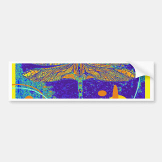Celestial Mystic Gold Dragonfly by Sharles Car Bumper Sticker
