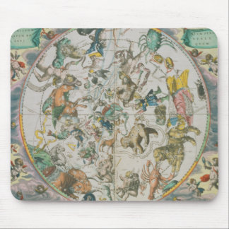 Celestial Planisphere Showing the Signs of the Zod Mouse Pads