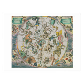 Celestial Planisphere Showing the Signs of the Zod Postcard