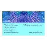 Celestial púrpura de la turquesa plantilla de tarjeta personal