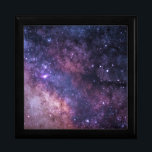 """Celestial River Keepsake Box<br><div class=""""desc"""">The Milky Way  Celestial river in the night sky  Image licensed under a Creative Commons Zero License by Jeremy Thomas Edited by Leah McPhail</div>"""