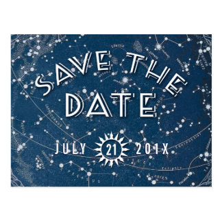 Celestial Save the Date Postcard