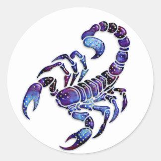Celestial Scorpion Classic Round Sticker