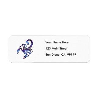 Celestial Scorpion Return Address Labels