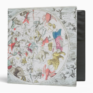 Celestial Showing the Signs of the Zodiac 3 Ring Binder