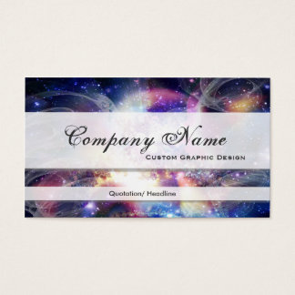 Celestial Space Graphic Designer Business Cards