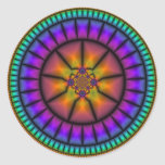 Celestial Sphere Mosaic Round Stickers