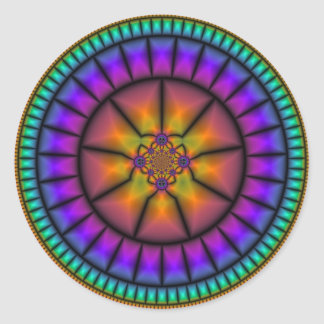 Celestial Sphere Mosaic Classic Round Sticker