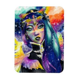 Celestial Star Girl Design Magnet