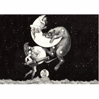 Celestial Star Sky Moon Illustration Artwork Statuette